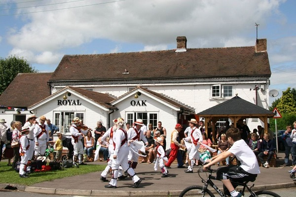 Morris dancers are not a common sight but brightened the place up